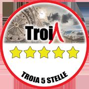 Troia 5 stelle logo rosone 180x180